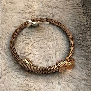NWT Alex and Ani Drift Wrap Bracelet. Gold.